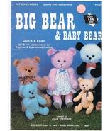 Big Bear & Baby Bear Teddy Bear Pattern Book - $7.00