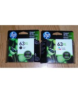 Genuine HP 63XL Black & Tri-Color High Yield Ink Cartridges 2021 New 63 ... - $54.01