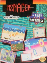Menacer 6 Game Cartridge Sega Genesis Video Game - $3.97