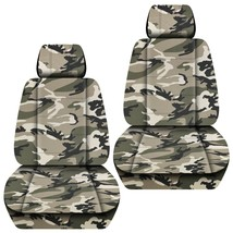 Front set car seat covers fits Jeep Grand Cherokee 1999-2020   camo tan - $69.99