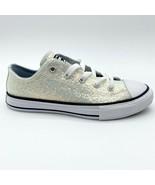 Converse CTAS Ox Wolf Grey Rainbow Glitter Junior Kids Sneakers 665979C - $44.95