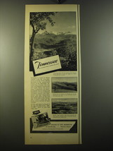 1950 Tennessee Tourism Ad - Tennessee the nation's most intersting state - $14.99