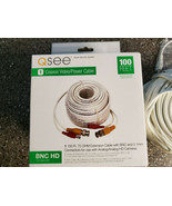 QSEE QS100B 100FT BNC HD Coaxial Video Power Cable - New in the Box! - $19.99