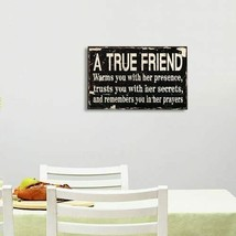 Adeco Decorative Wood Wall Sign Plaque A True Friend Home Decor Art with... - $20.00