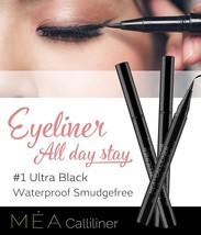 Waterproof Liquid Eyeliner Mea's Calliliner Semi Permanent Ultra Black E... - $17.68