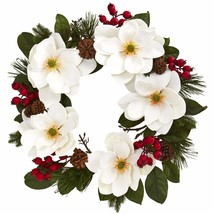 "26"" Magnolia, Pine And Berries Wreath - $71.50"