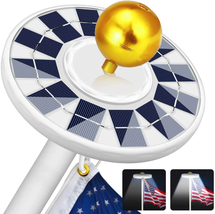 128 LED Light Super Bright Led Solar Powered Lights 25Ft Flagpole NEW - $27.90