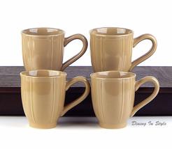 JC Penney, Ashley Taupe, Set of 4 Mugs (12 oz.)... - $15.43