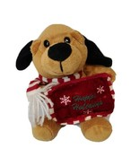 """Atico Industries Brown Puppy Dog Plush Christmas Gift Card Holder 9"""" Hol... - $6.58"""