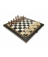 Chess set Tournament 4 Mosaic Black - Handmade Wooden Chess Set - High Q... - $98.90
