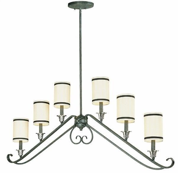Kitchen Island Linear Chandelier Light Brushed Nickel Ivory Black Trim 197 01 Advanced Search For Thomas Lighting
