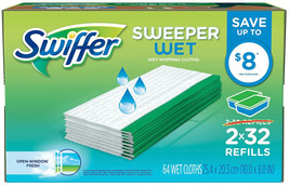 Swiffer Sweeper Wet Cloth Refill, 60 Count - $59.34