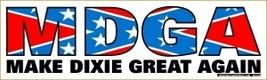 MDGA Make Dixie Great Again Vintage 3X10 Vinyl Rebel Sticker - $4.50