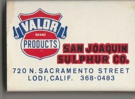 Vtg Strike on Match Box with local ad & sticks ~ San Joaquin Sulphur Co. - $9.89