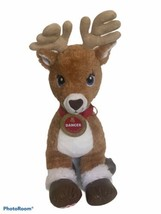 "Build A Bear Dancer Team Santa Rudolph The Blue Eyes Reindeer 18"" Plush ... - $21.99"