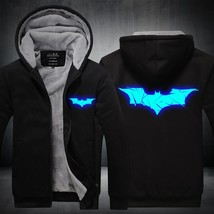 2018 Winter New Jackets BATMAN Hoodie Anime Luminous Men Hooded Thick Zipper Coa - $53.04