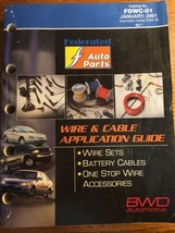 2001 BWD Wire Cable Application Guide Catalog Auto Parts - $16.62