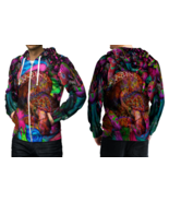 Psychedelic Mushroom Trippy Tongue DMT Hoodie Zipper For men - $49.99+