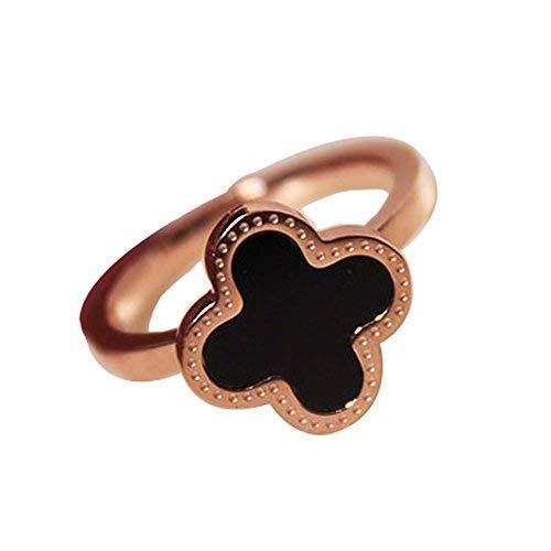 Fashion Unique Ladies Accessories Concise Style Clover Diamond Ring Simple Wild