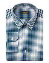 NEW CLUB ROOM REGULAR FIT LONG SLEEVE PLAID BUTTON FRONT DRESS SHIRT 14.... - €12,17 EUR
