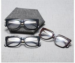 Vintage Black Classic Cat Eye Clear Glasses Frame Fashion Glasses Reading Glasse image 6