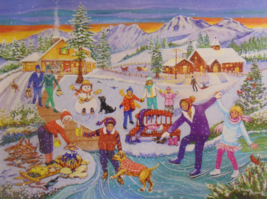 PUZZLE...JIGSAW...RUSINKO...Family Skating Time...300 Piece...Factory Se... - $14.99