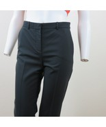 Gianni Versace Black Straight Leg Ankle Pants Size EUR 40 US 4/6 Wool Stretch - $79.15