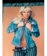 Sexy Britney Spear 20.3cm x 25.4cm Foto Immagine su 38.1cm x 30.5cm Legn... - $18.78