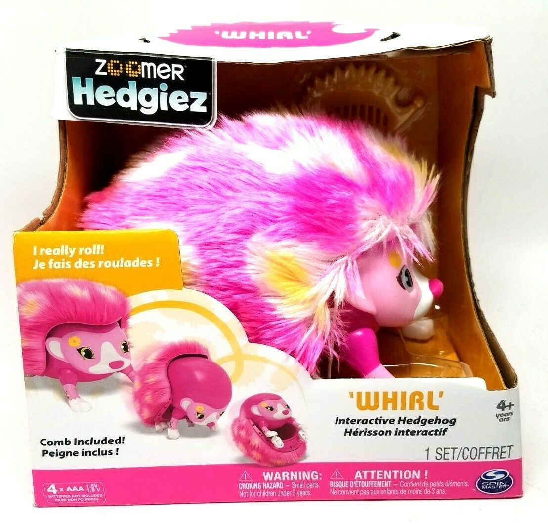 Zoomer Hedgiez Interactive Hedgehog by Spin Master | WHIRL | Comb Included | NEW