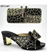 Ladies Italian Shoes and Bag Set Decorated with Rhinestone Women Shoes H... - €39,75 EUR+