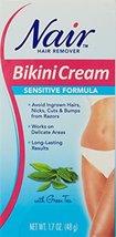 Nair Hair Remover Bikini Cream Sensitive 1.7 Ounce 50ml 2 Pack image 3