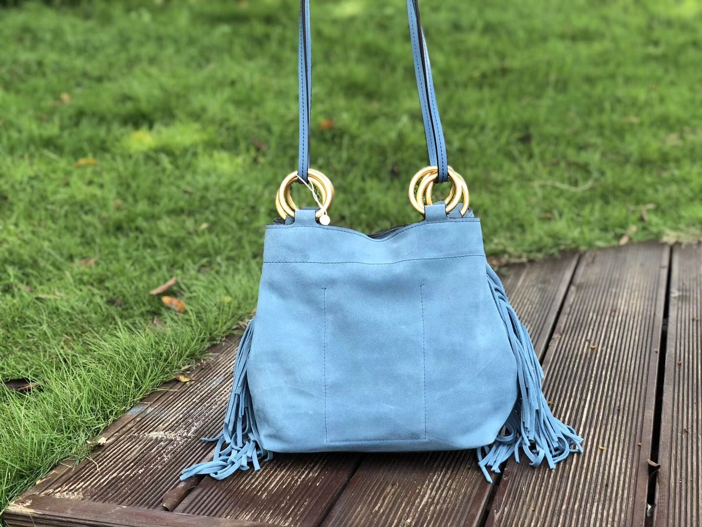 Tory Burch Farrah Fringe Small Suede Tote