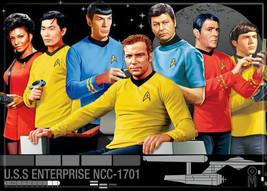 Classic Star Trek Main Cast Render Art Image Refrigerator Magnet NEW UNUSED - $3.99