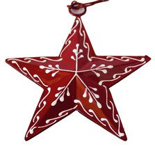 Painted Tin Star Ornament Snowflake by Culturas Trading Company-Holiday! - $8.54