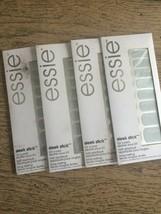 4 x Essie Sleek Stick Nail Applique Nail Strips stickers Steel the Show Lot of 4 - $13.71