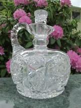 Signed Clark American Brilliant Period Cut Glass ABP Antique Decanter - $172.98