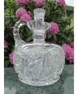 Signed Clark American Brilliant Period Cut Glass ABP Antique Decanter - $210.38