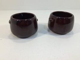 (2) Vintage West Bend USA Brown Crock Bowls Pot - $14.99
