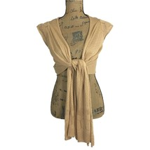 NEW BCBG Girls XS Convertible Cardigan Top Wrap Drape Sandal Tan Crop Ca... - $14.95