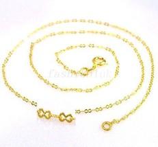 Damen NEU 24K Gelbes Gold überzogener 44.5cm 45cm SS kleines Teil - $8.96