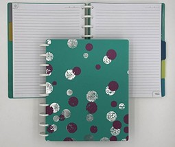 Talia Discbound Notebook, Teal Bounce, MIDSIZE - $40.65
