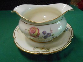 "Magnificent CASTLETON China ""Sunnyvale""  GRAVY BOAT with Attached Under-... - $45.45"