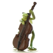 Hagen Renaker Frog Froggy Mountain Breakdown Double Bass Ceramic Figurine image 1