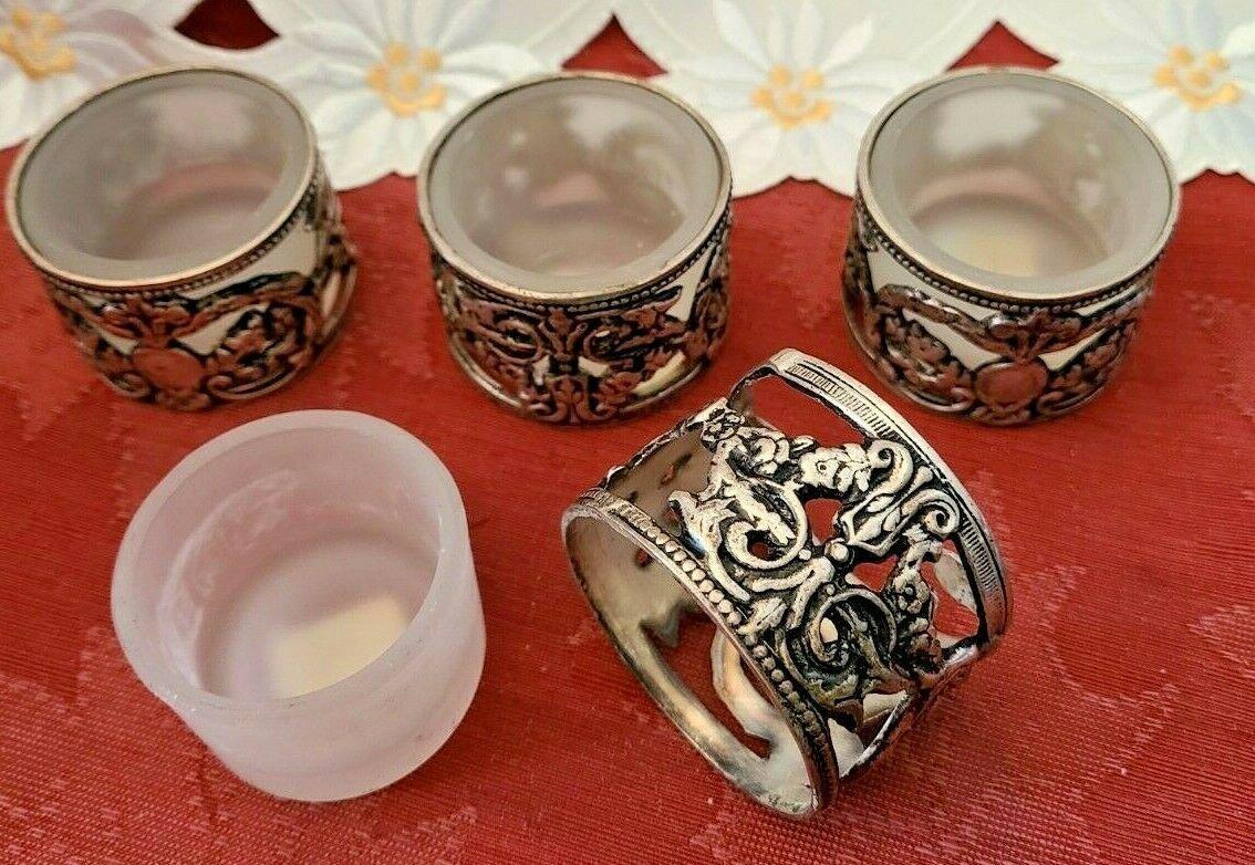 Vintage Silver Plate Tealight Votive Candle Holders - Set of 4