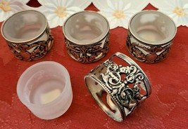 Vintage Silver Plate Tealight Votive Candle Holders - Set of 4