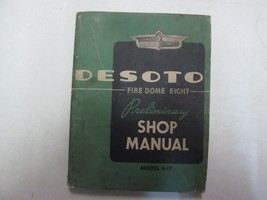 1952 Chrysler Desoto Fire Dome Eight Model S-17 Preliminary Shop Manual *** - $24.70