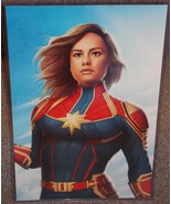 Captain Marvel Glossy Art Print 11 x 17 In Hard Plastic Sleeve - $24.99