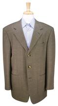 * PAL ZILERI * Olive/Gold Tweed Cashmere-Wool-Silk 3-Btn Sportcoat Blaze... - $56.00