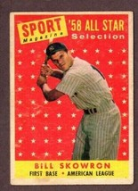 1958 TOPPS BASEBALL #477 BILL SKOWRON AS BASEBALL CARD-AMERICAN LEAGUE - $10.84