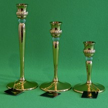 NIB Partylite Set Of 3 Brass And Lucite Richmond Trio Candle Holders, P9258 - $17.95